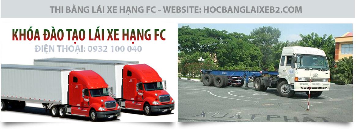 Học lái xe hạng FC uy tín, chất lượng tại trung tâm Thành Công
