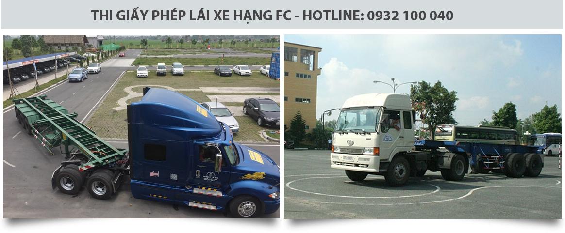Học và thi bằng lái xe FC tại trường dạy lái xe Thành Công