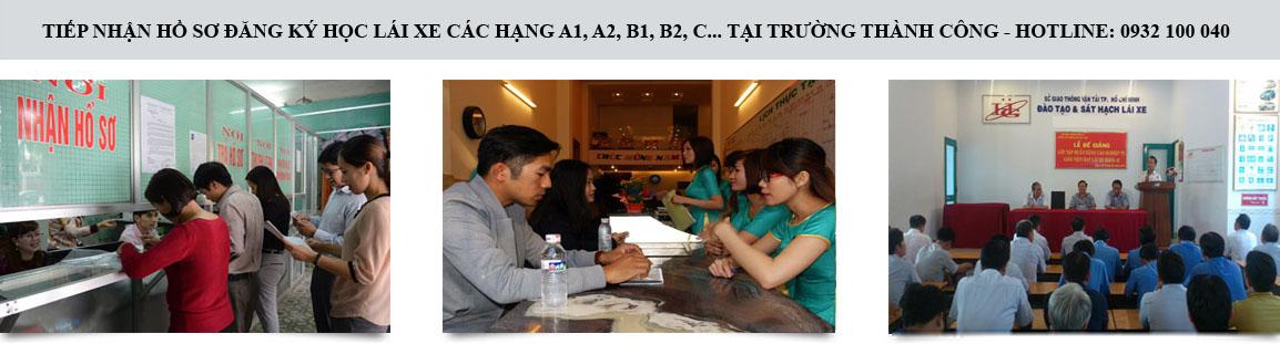 Hình ảnh học bằng lái xe B2 tại trung tâm Tiến Thành
